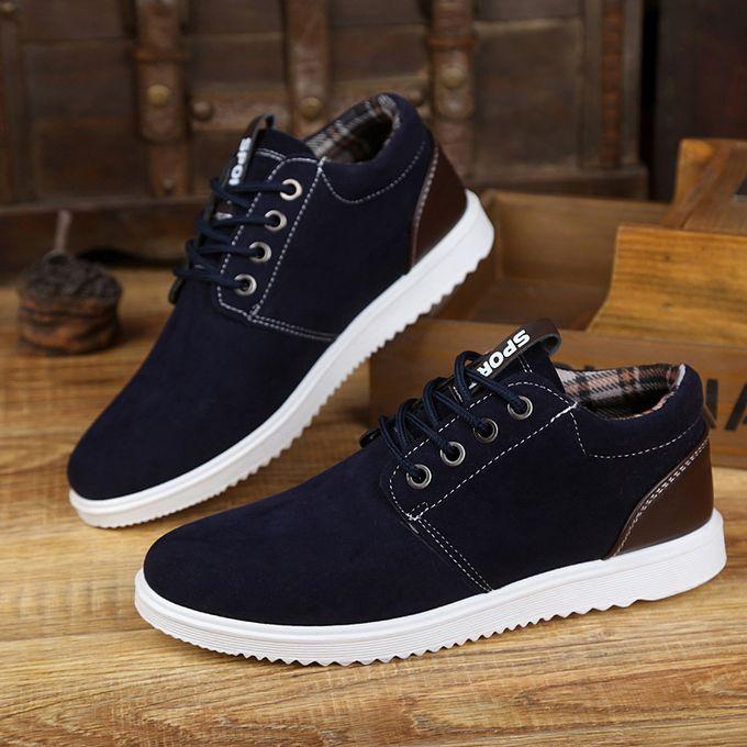 Fashion Solid Color Men Canvas Shoes