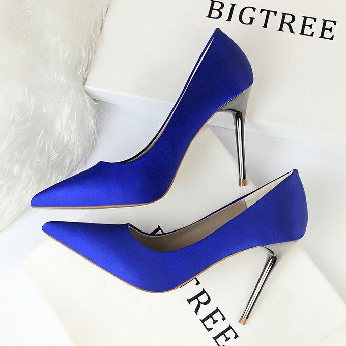 Fashion Women Fashion Simple Shoes High Heel Satin Shallow Mouth Pointed Sexy Nightclub Shoes High Heels Jumia Nigeria