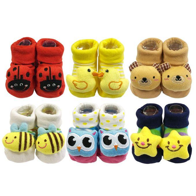 Fashion 6 Pairs Baby Booties Shoe Socks