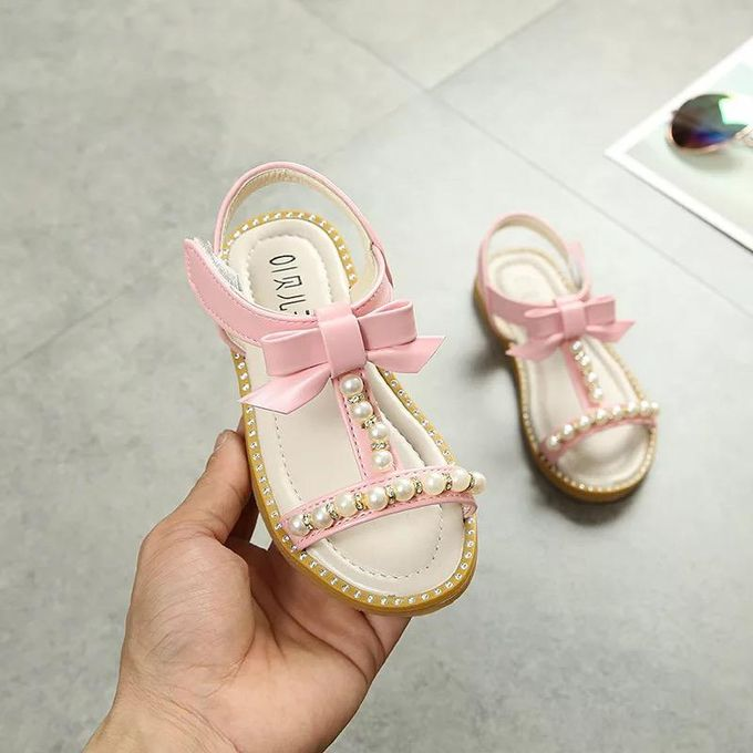 Fashion Pink Girls Sandals Cute Bows