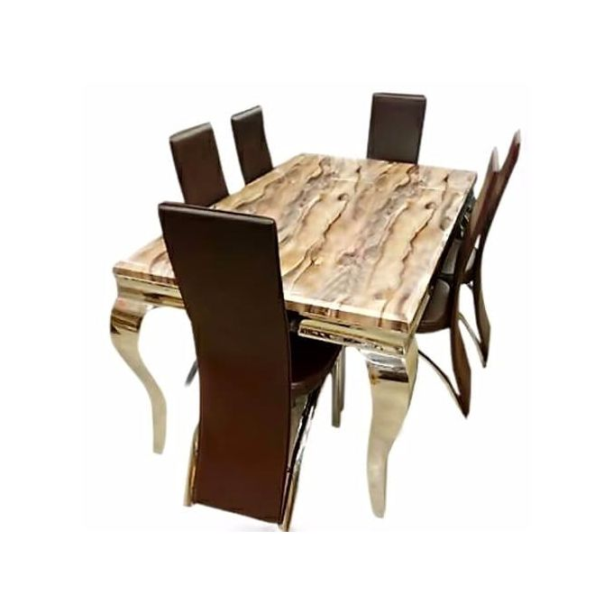 Generic Elegant Marble Dinning With 6 Chairs