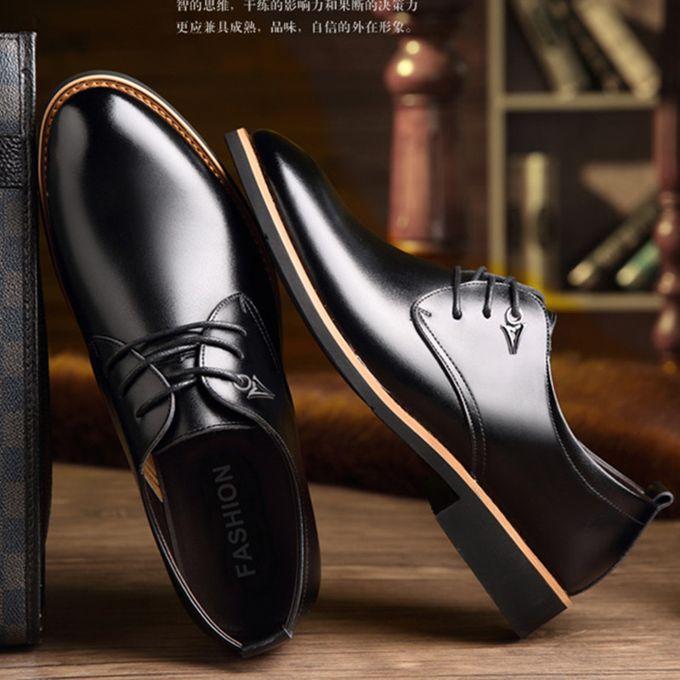 Fashion Men's Leather Semi-Casual Lace