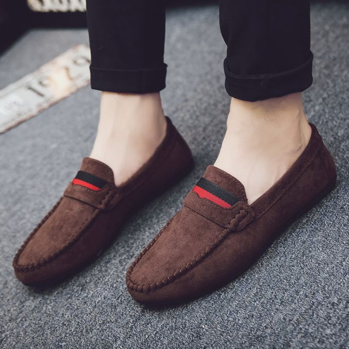 Casual Shoes Korean Loafers Shoes-Brown