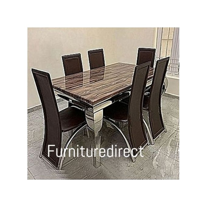 Generic Marble Dining Set + 6 Sitting Dinning Chairs