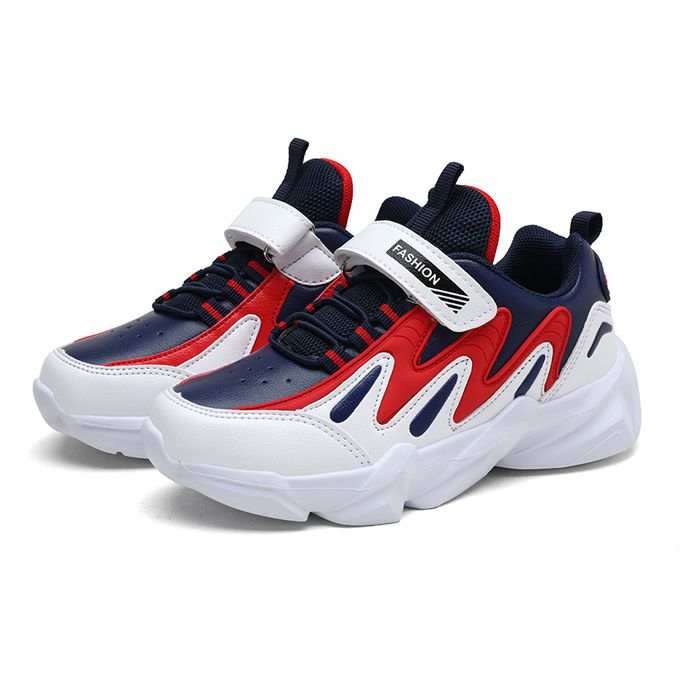 Fashion Children's Outdoor Sports Shoes Boys Sneakers -Blue/Red | Jumia  Nigeria