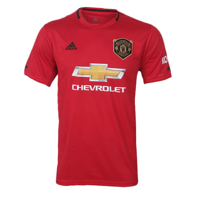 Adidas 2019/2020 Manchester United Home Jersey - Red ...