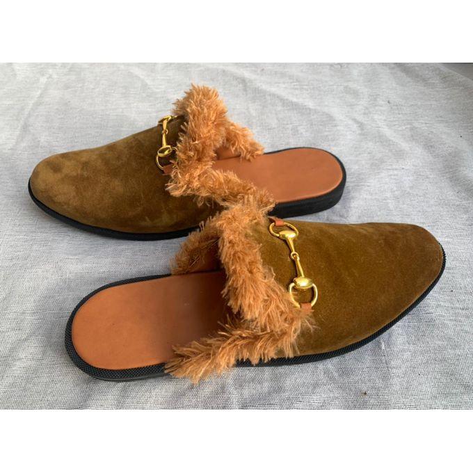 Fashion Male Half Shoe(suede) - Brown