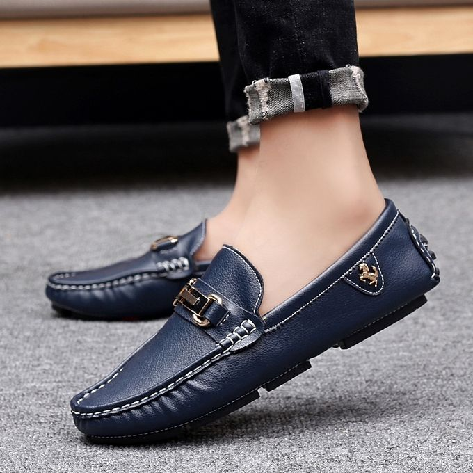 Men's Driving Shoes Genuine Leather