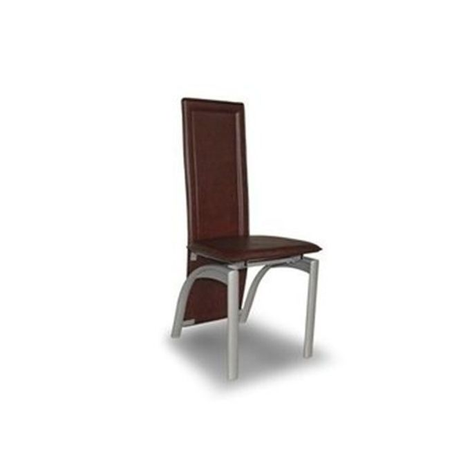 Generic Chrome Dinning Chair- Brown