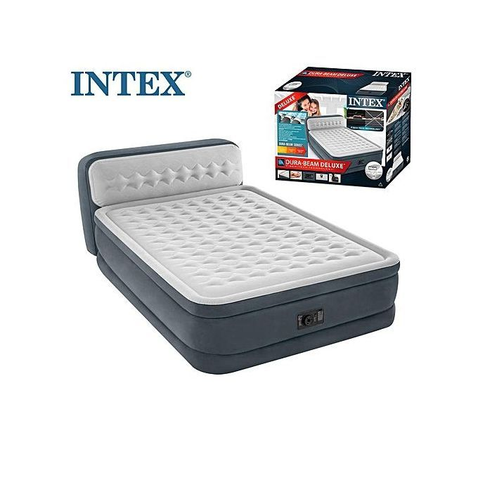 Intex Queen Size Inflatable Ultra Plush, Deluxe Air Bed Queen Size