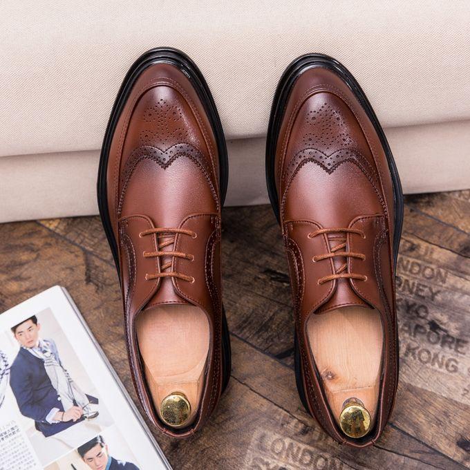 Men Shoes Retro Brogue Office