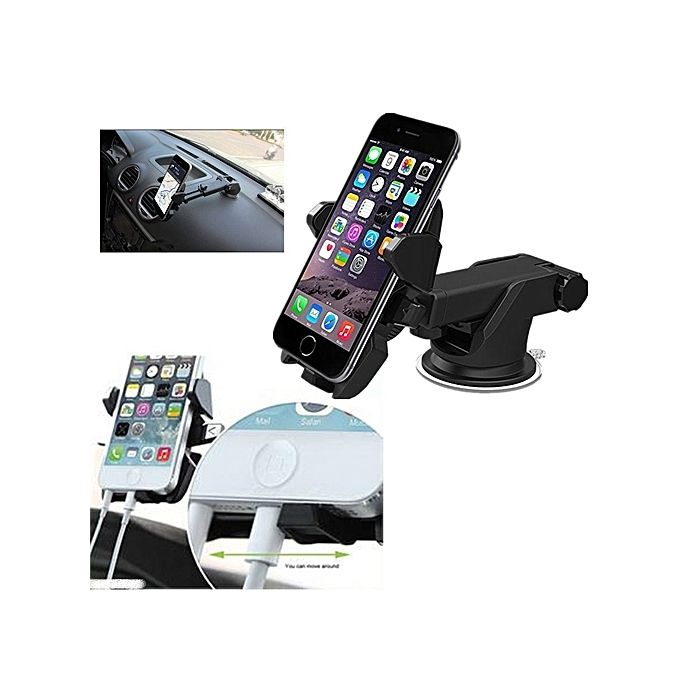 Best Car Phone Holder With 360 Degree Rotation Perfect For  Tecno,Samsung,Infinix,iPhone,Gionee ETC HOW TO USE WATCH VIDEO BELOW!