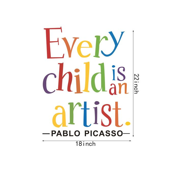Every Child is an Artist Removable Art Vinyl Mural Room Home Decor Wall Stickers