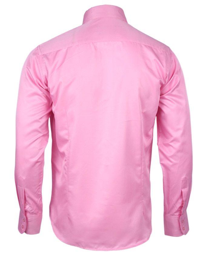 Jafalet long sleeve men 39 s shirt pink buy online for Mens pink long sleeve shirt
