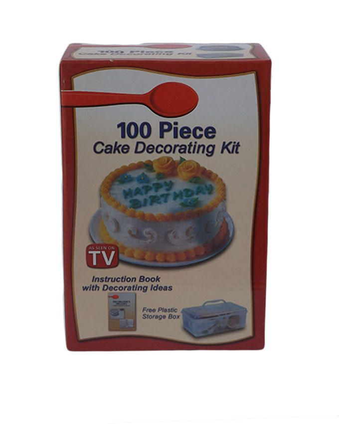 universal 100 piece cake decorating kit white buy
