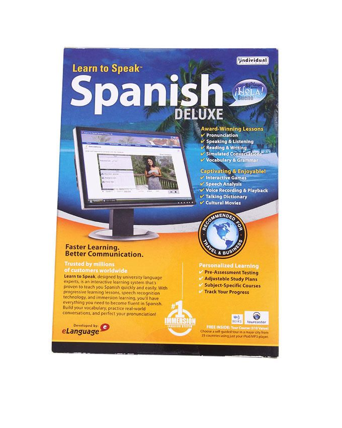 Learn to speak spanish computer software