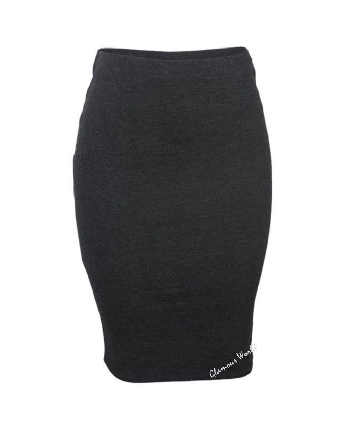 fashion midi bodycon skirt grey buy jumia nigeria