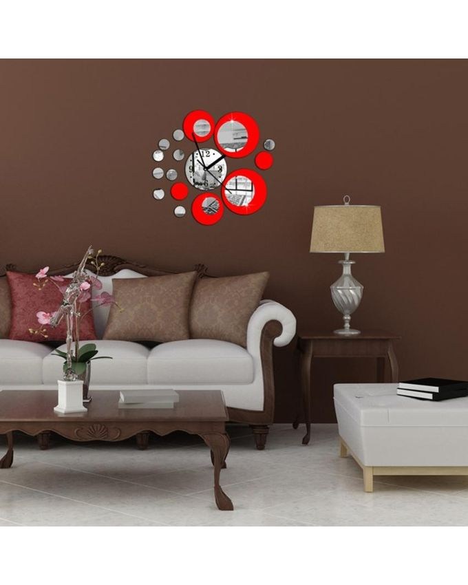 magideal diy circles wall art clock mirror wall sticker