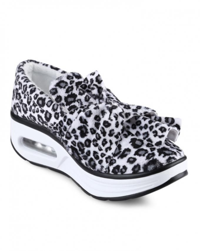 fashion leopard slip on shoes white buy