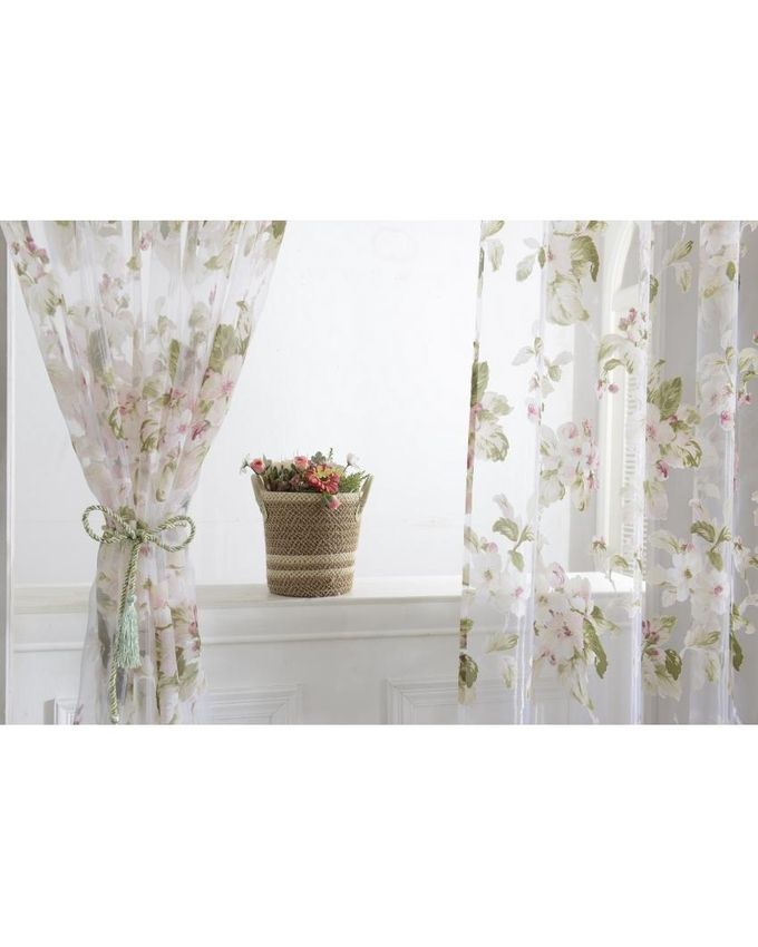 Floral Voile Curtains Window Blinds Panel For Living Room Pink 100200cm Price In Nigeria And How To Buy It Online