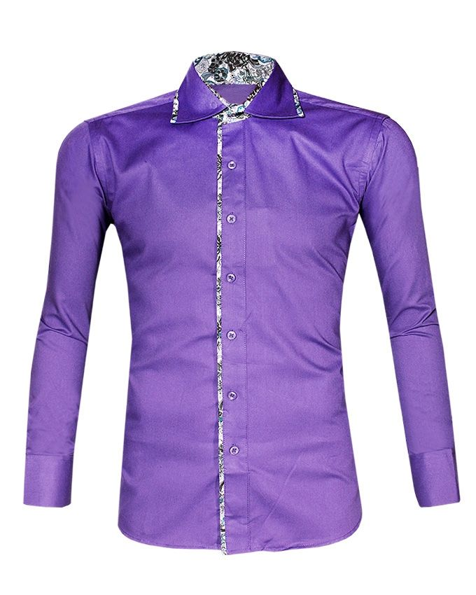 H n men s designed long sleeve shirt light purple buy Light purple dress shirt men