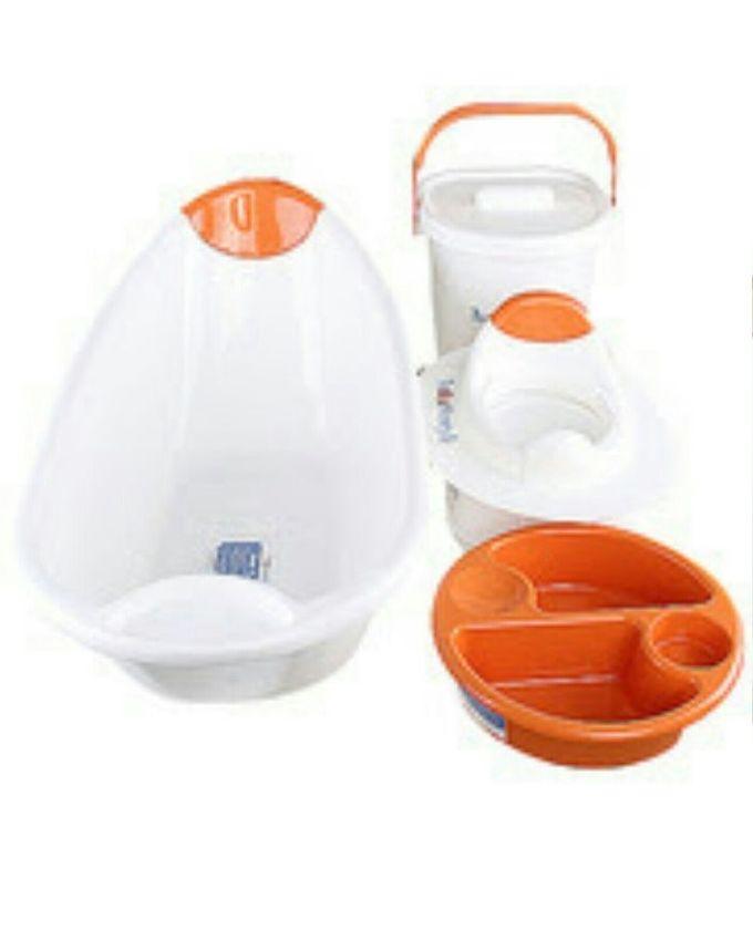 the neat nursery co durable baby bath set 5pcs buy. Black Bedroom Furniture Sets. Home Design Ideas