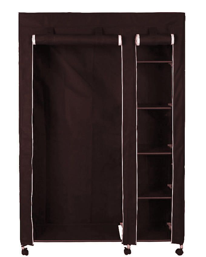 Universal Mobile Wardrobe Closet With Wheels Brown Buy