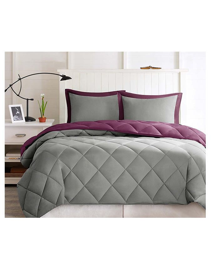 Beyond Beddings Duvet Quilt With 4 Pillow Cases Grey Purple Buy Online Jumia Nigeria