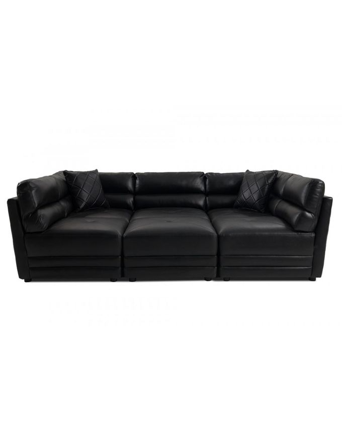 Leather Sofas In Nigeria: Hapt (Reduced Shipping Fee) Black Matrix Sectional Leather
