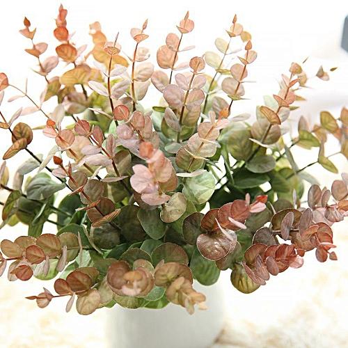 Bioaldla Store Artificial Fake Leaf Eucalyptus Leave Simulation Leaves Wedding Party Home Decor