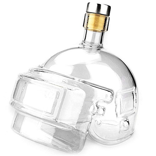 Head Shape Design Creative Wine Pot - Transparent