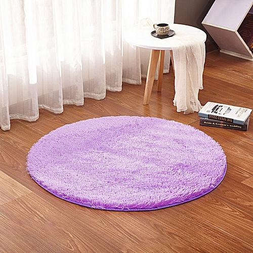 KCASA KC-MP1 60cm Non-Slip Bedroom Floor Mat Fluffy Soft Plush Rug Pure Colour Dining Room Carpet