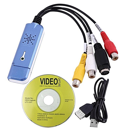 2.0 USB Converter Audio Video Capture Grabber Adapter For Win/XP/7/8/10 PAL