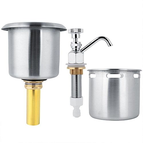Stainless Steel Faucet + Sink Coffee Accessory Washing Tool