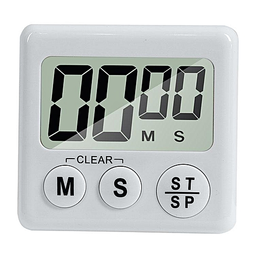 Upgraded Multifunction Digital Kitchen Cooking Timer With Switch To Adjust Volume Countdown With Big Digits Loud Alarm Automatic Shutdown # White