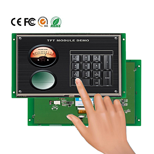 "10.1"" HMI Touch Panel TFT LCD With 4 Wire Resistive Monitor"