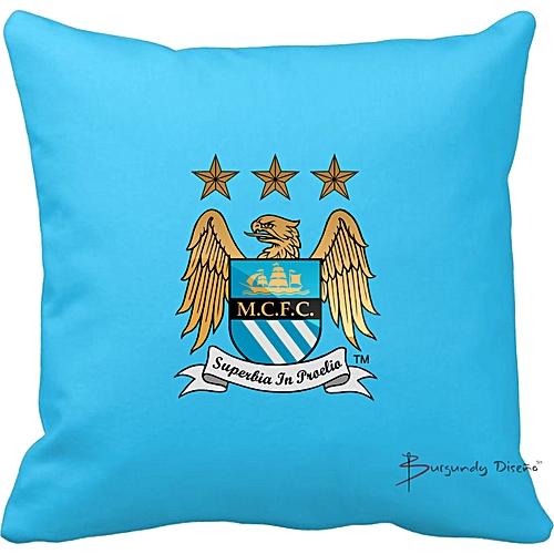 Club Football Throw Pillow (Man City)