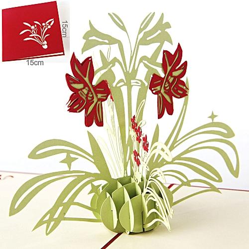 Lover Happy Birthday Anniversary Greeting 3D Postcard Postcard Daffodil