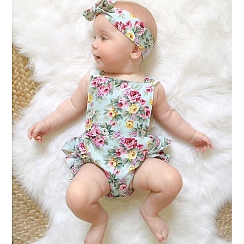 9e52c647b654 Fashion Newborn Kids Baby Girls Clothes Floral Outfits Set Lace ...