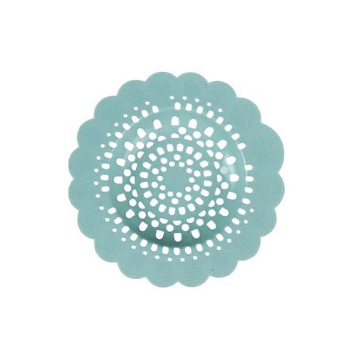 Fashionhead@Durable Silicone Flower Hollowed Sink Strainer Filter Bath Kitchen Drain Cover-Blue