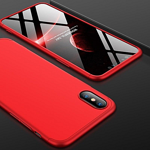 211c77726d4 Generic Case For IPhone XS Max Case 360 Degree Full Protection Hard PC 3 In 1  Matte For IPhone XSMax Cover Fundas Coque (Red)