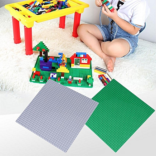25*25cm Children Building Blocks Base Plate 32*32 Dots Small Bricks DIY Toy Parts Light Gray