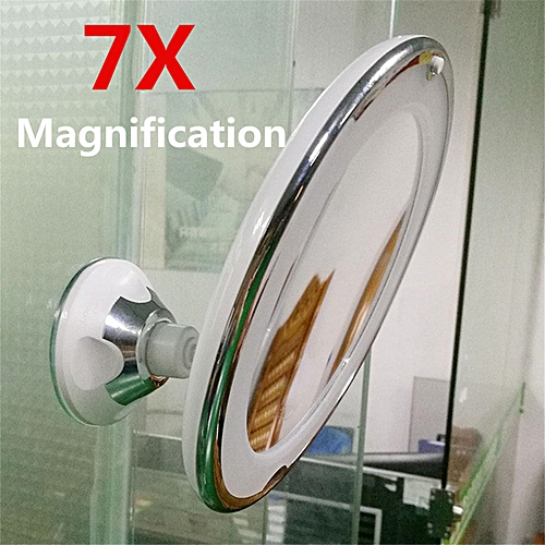 7X LED Magnifying Makeup Cosmetic Mirror 360-Degree Rotary With Suction Cup
