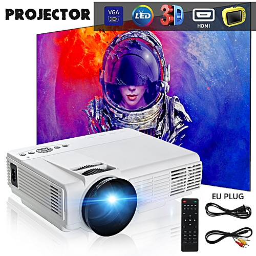 260 Multimedia 3000 Lumens Hd Led Projector Home Theater: Generic 3000 Lumens 1080P Full HD LED Video Projector