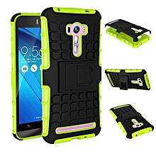 TPU + PC Armor Hybrid Case Cover For Asus Zenfone Selfie ZD551KL (Green)