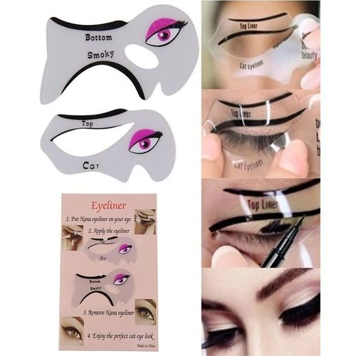 Eyeliner Stencil Eyeshadow Guide Smokey Cat Eye Stencil Makeup Tool Set