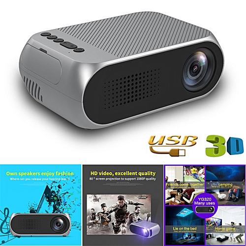 YG320 Mini Home Theater Cinema TV Portable LED Projector 108