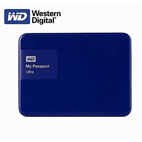 WD Elements External Hard Drive Disk HD 2TB High Capacity SATA USB 3.0 Storage Device-Blue