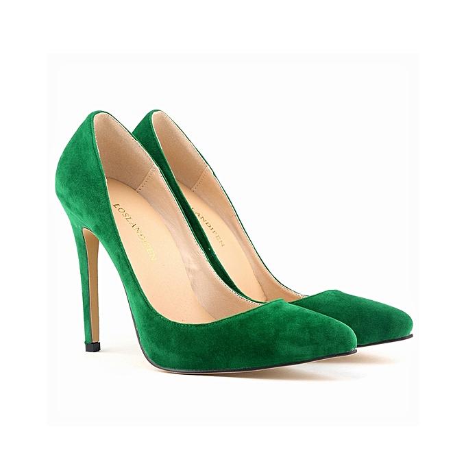ce82c6549a22 Loslandifen Women s High Heel Pointed Toe Velvet Stiletto Pumps ...