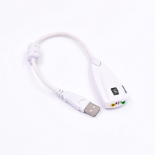 External USB Sound Card 7.1 Adapter 5HV2 USB To 3D CH Sound Antimagnetic Audio Headset Microphone 3.5mm Jack For Laptop PC